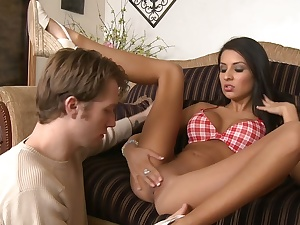 Amazing Lexi Diamond financing twosome ride for another
