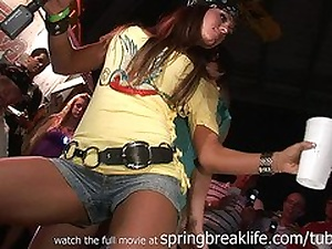 SpringBreakLife Video: Up Skirt, Girls Kissing Together with Flashing