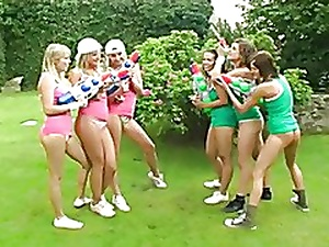 Lesbian teen orgy not far from the garden
