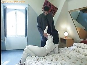 Sexy black haired having sex