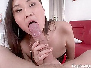 First Time Anal Porn beside the Young & Sexy Alisa Kim