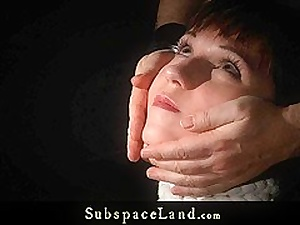 Painful hot wax and spank for ### in cords