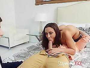Kinky Stepdaughter And Mom Share And Suck Cock