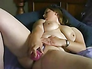 Very Horny Fat BBW GF loves masturbating everyday.