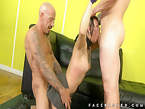 Amelia Dire takes on two original cocks