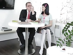 Tricky Superannuated Teacher -Jody played with her pussy