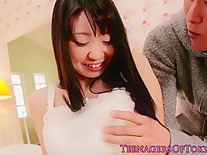 Bigtitted asian teen cocksucking