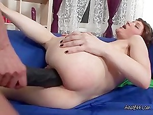 Lesbians Olga And Elena Fuck Anal With Black Strapon
