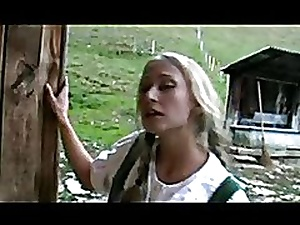 Two beautiful German girls Fucking in a barn