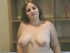 beautiful Fat BBW girl playing with her Juice hairy Pussy