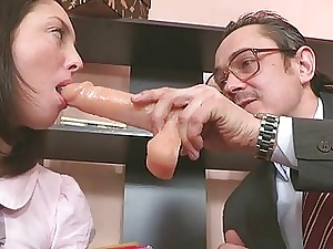 Young girl is carnal ravished at the end of one's tether a lusty older man