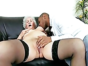 Horny Granny Patient seduces a Black Doctor
