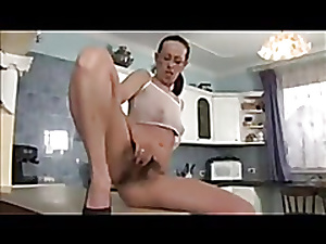 Ugly hairy mature having a dirty fuck in the kitchen