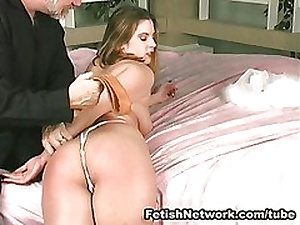 Great ass whipping on someone's skin bed
