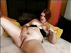 Horny Fat BBW Redhead I met Online sucking and riding cock