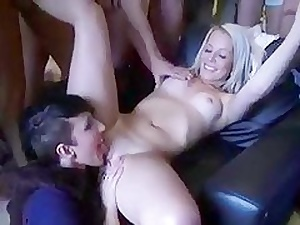 Flaxen-haired Teen Gets Gangbang for A Baby