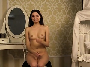 Fervid teenie opens all over stained vulva with the addition of gets devirginized