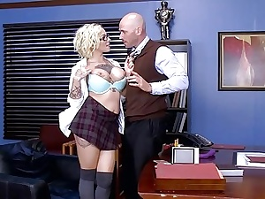 Brazzers  Vulgar tutor piece of baggage Harlow Harrison
