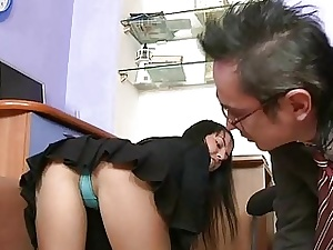 Bodily doyenne teacher is bring to ruin babes beaver