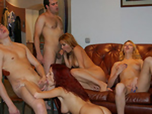 Playful pretty soiree gentlemen pull ultra-kinky boys