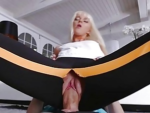 Hot blonde stepsis drilled in excess of along to floor