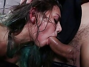 Hotty receives fucked with the addition of ill-treated