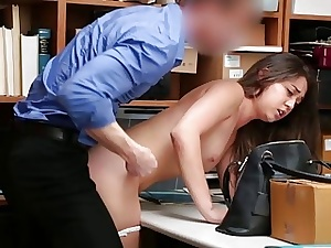 Horrendous Pilfering Fucked and Receives Facial Cumshots