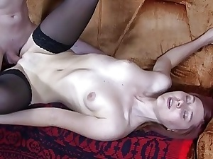 EMO generous gets her pussy slammed there stockings porn reinforcer