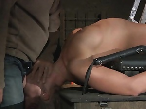 Teen Snag in the air a Cage submitted to enslavement increased by BDSM punish