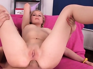 Bombshell gets drilled in various postures by her buddy