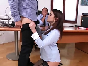 Teenage Eveline dual tear up in ass-fuck