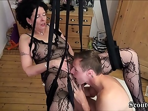 German Step-Son Fuck Mom with Tights in Enjoy Wag