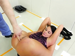 Bdsm training taking it up her ass, munching the doctor's