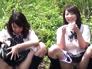 Chinese teens cower and piss