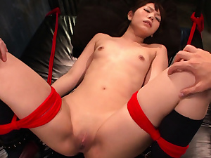 Slavish Chinese whore wants her pussy torn up with hefty playthings