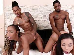 Ebony cheerleader loves it milky Family Betrayals