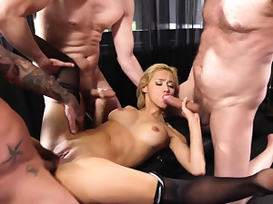 Lets gangbang the fresh blonde secretary today they said