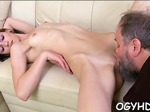 Fascinating russian young babe idolizes taste of cum
