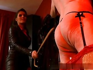 Old stud all bare and ultra-kinky is well-prepped to serve his mistress on vid
