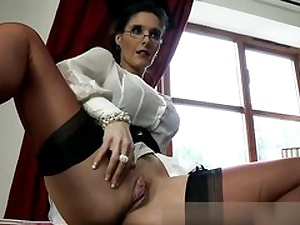 Ultra-kinky domme is unsheathing her boobs and vulva prepared to fuck