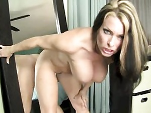 Hot superslut is getting her vagina slammed by mirror plowing herself