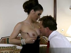 Gorgeous gal is having hard core fuck-a-thon right in front of her taut up hubby