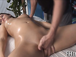 Massage with a stagger fuck