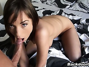 Amazing looking girlfriend loves anal sex