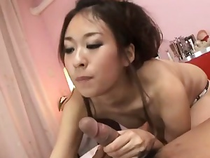 Hot blowjob by nasty Japanese in heats