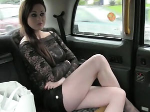 Skanky amateur passenger anal pounded for a unconforming taxi fare