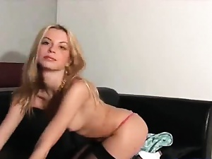 full of life hot blonde retard stripping